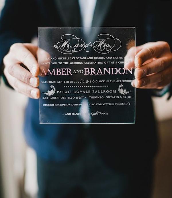 invitación boda transparente