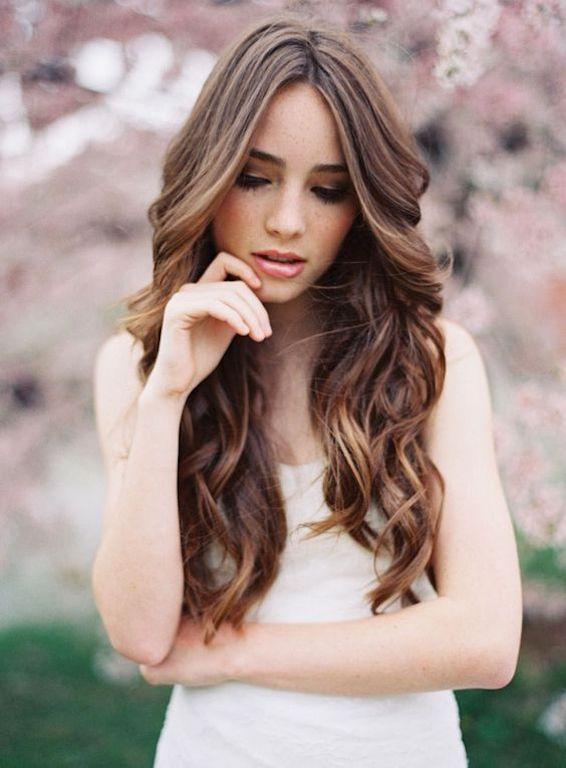 peinado novia natural pelo suelto