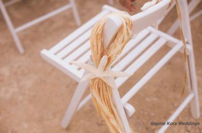 decoración silla playa