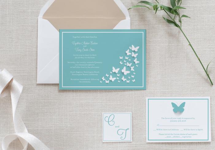 Invitación azul Tiffany