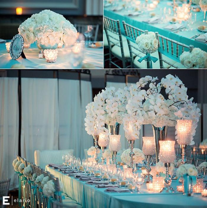 banquete azul Tiffany