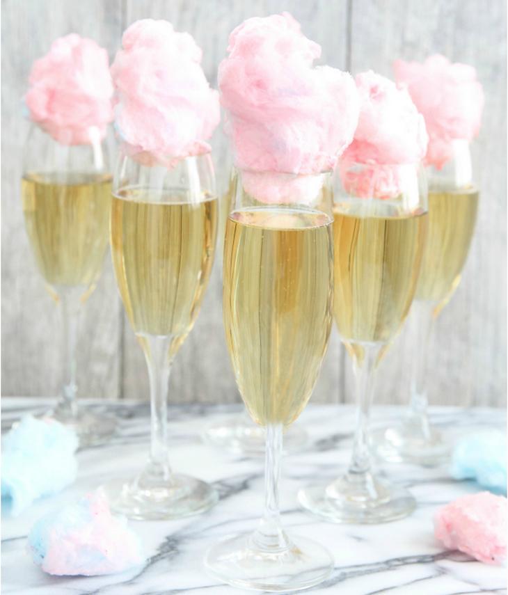 champagne algodón azúcar
