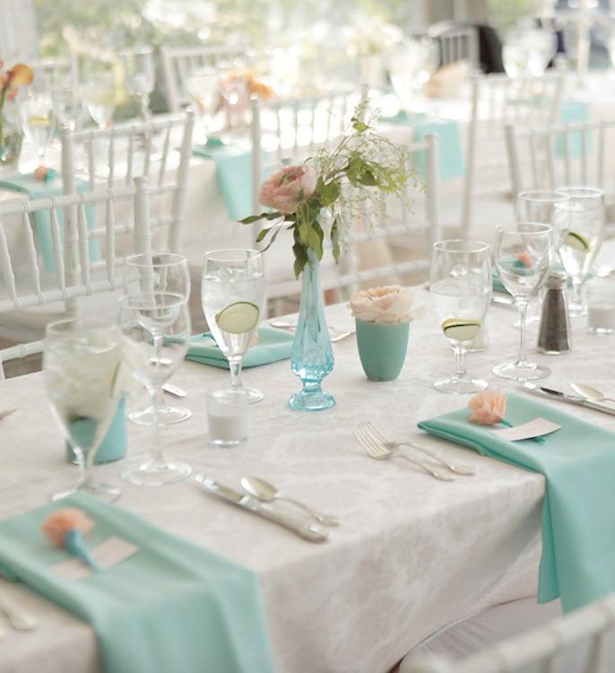 servilleta boda azul Tiffany