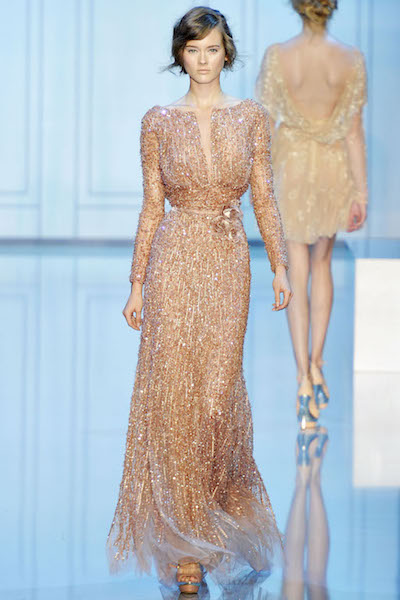 Elie Saab vestido boda bronce