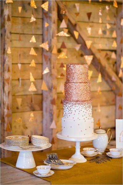 pastel bronce bodas