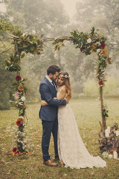 ceremonia boda otoño