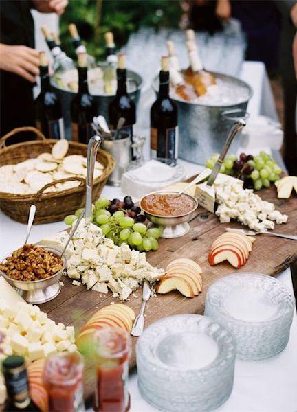 gastronomía boda otoño aperitivo bufet quesos
