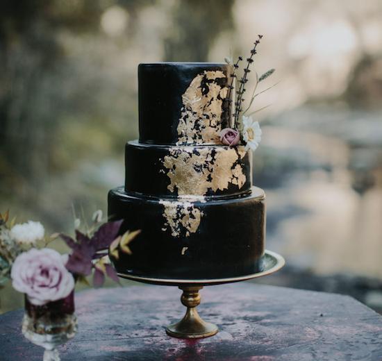 pastel bodas negro