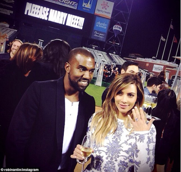 Kim Kardashian Kanye West Proposal