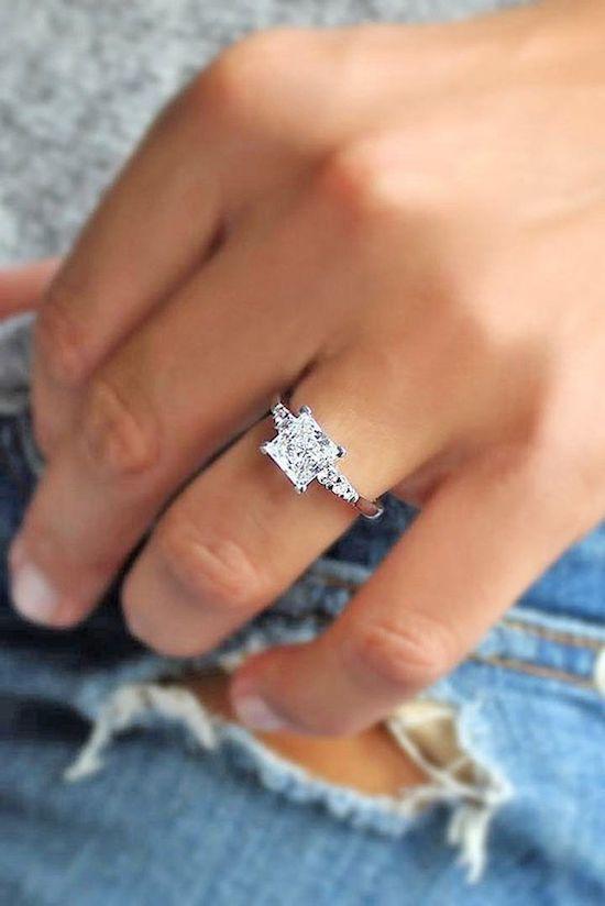 anillos compromiso corte princesa