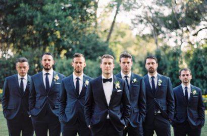 boda novio y best men