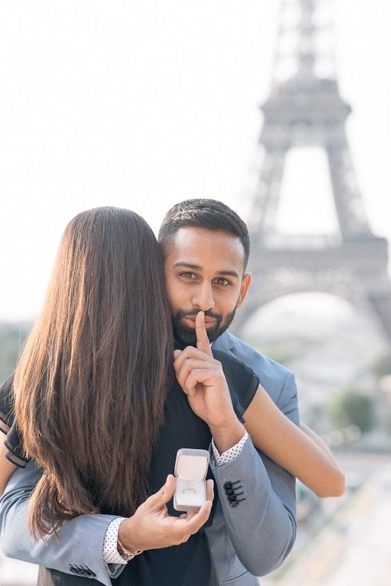 Pedida de mano en París