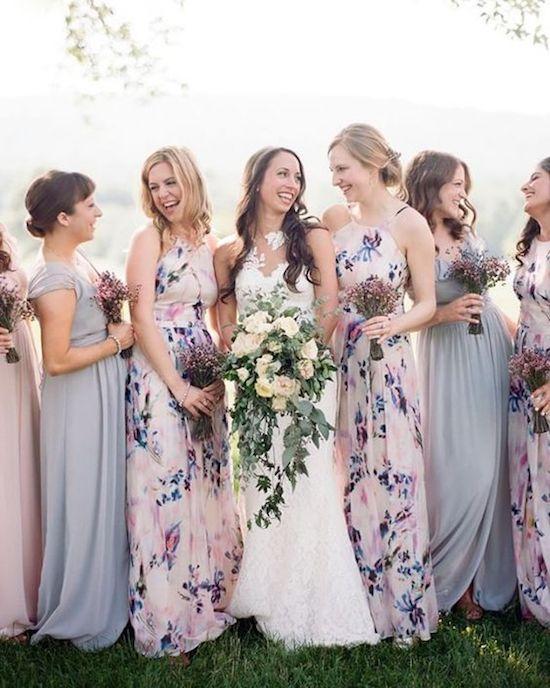 damas de honor vestido flores