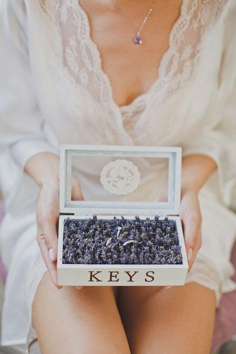 caja flores anillos boda