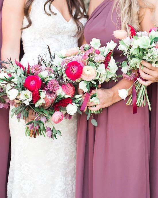 damas de honor ramo novia