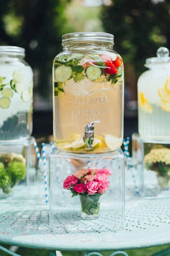 aguas con sabor boda de día