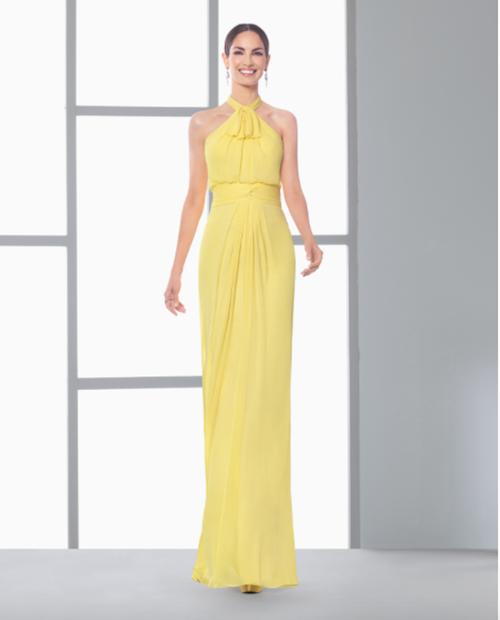vestido rosa clara amarillo