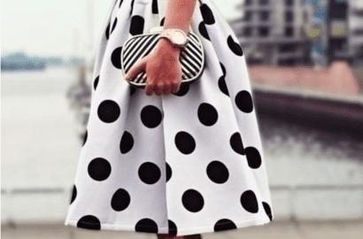 vestido topos