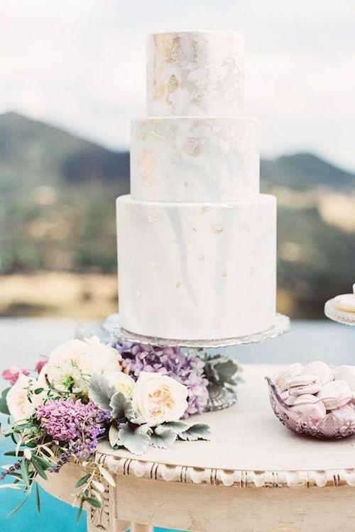pasteles de mármol bodas 2018