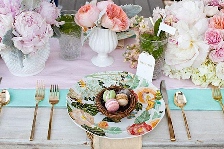vajilla flores bodas en primavera