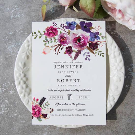 invitaciones boda en primavera