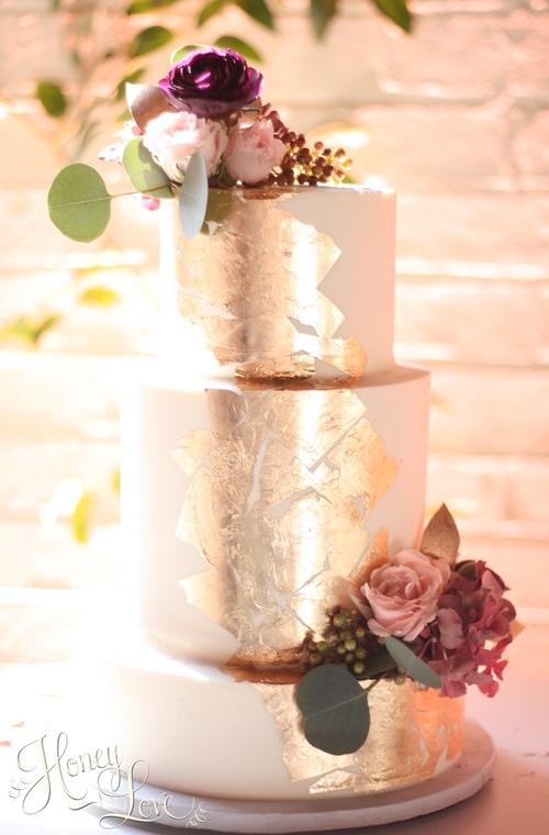 pastel de oro bodas 2018