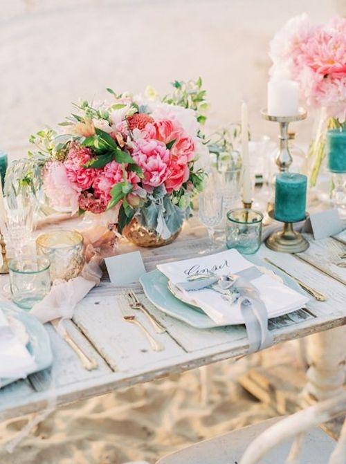 bodas frente al mar mesa arena
