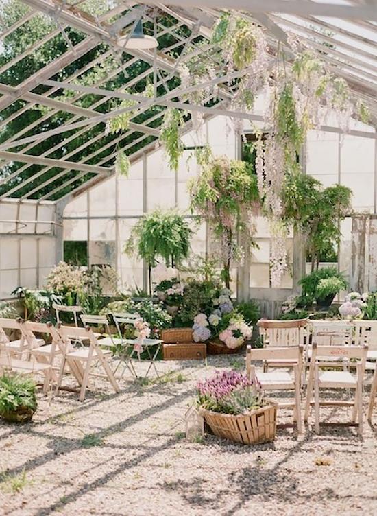 boda invernadero ceremonia