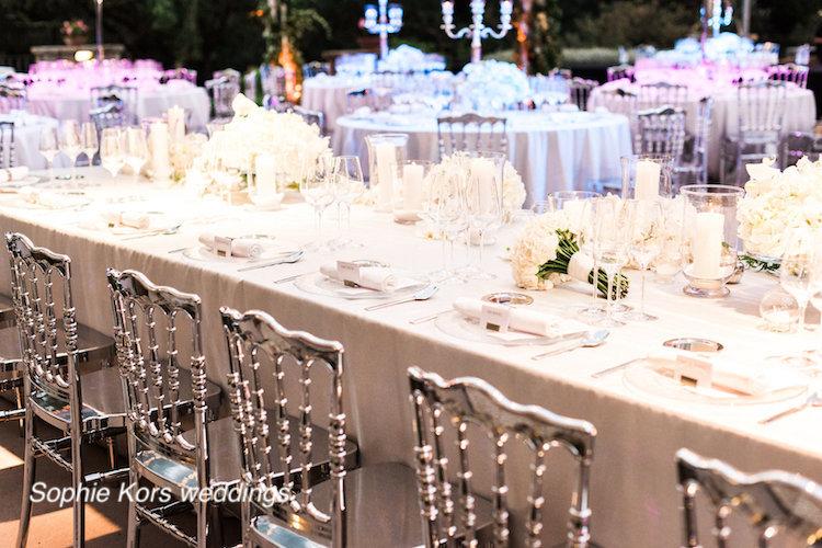 mesa presidencial bodas en blanco