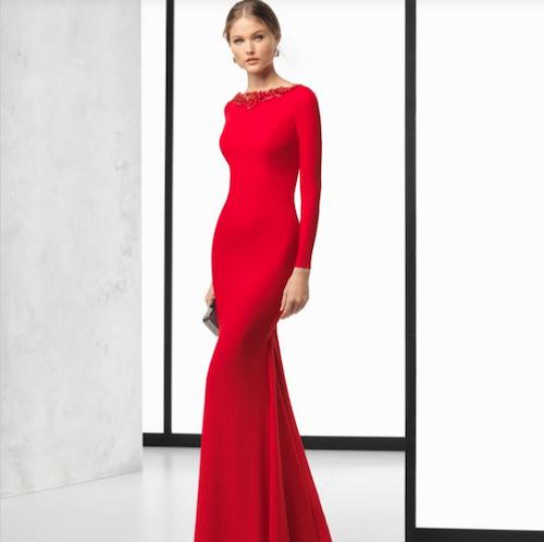 vestido rojo Rosa Clara