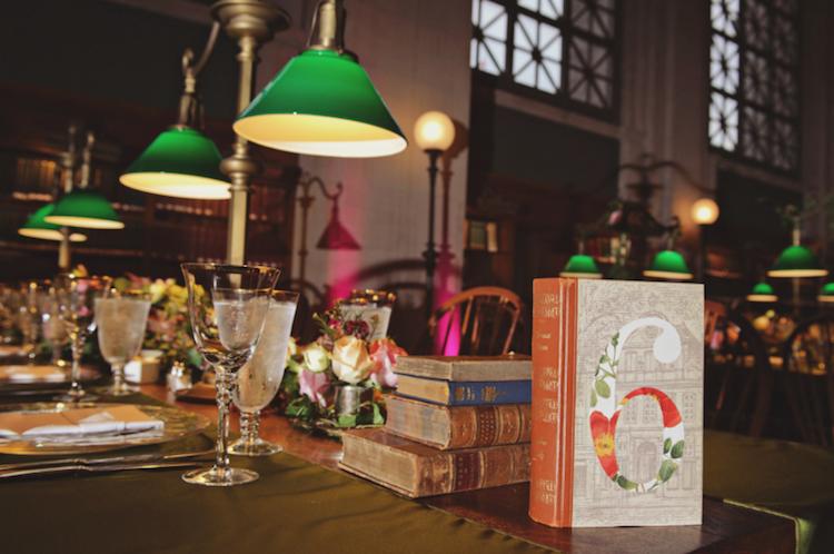decoracion libros boda