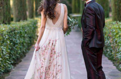 vestidos novia color