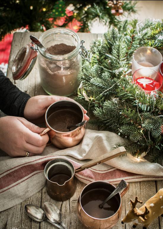 Navidades con chocolate caliente