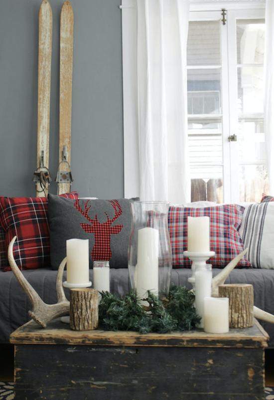 decoración Navidad con cojines