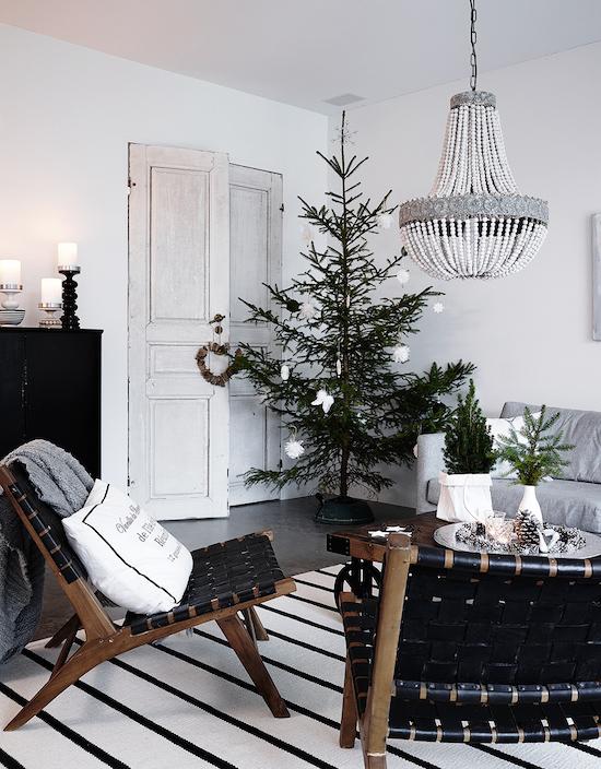 Decoración Navidad blanco y negro
