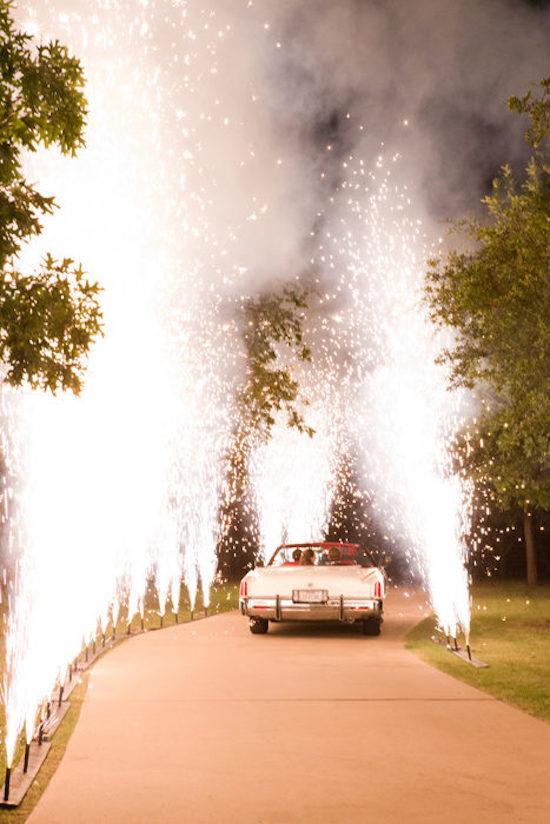 Momentos especiales boda fuegos fríos