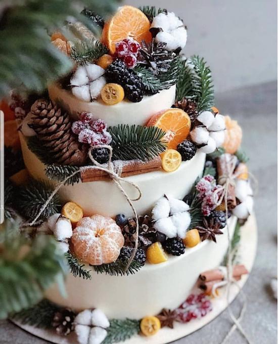 pastel de invierno