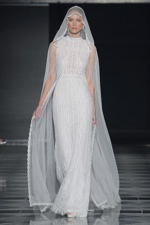 vestido novia velo