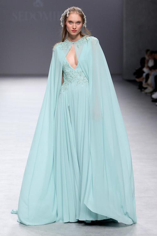 vestido invitada boda azul