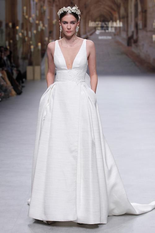 vestido novia escote profundo