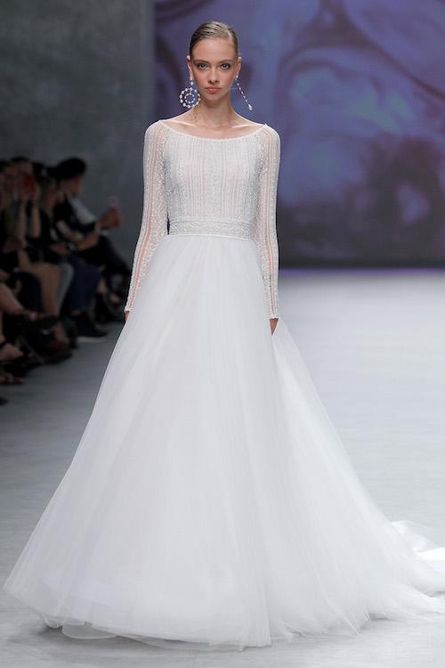 vestido novia largo vaporoso