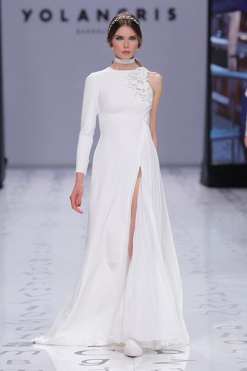 vestido novia sin manga