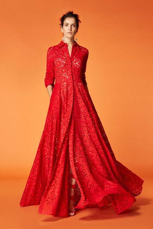 vestido rojo carolina herrera