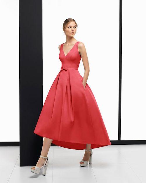 vestido coral rosa clara