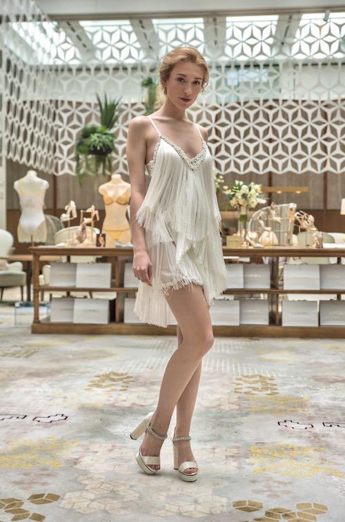 vestido novia corto La Perla