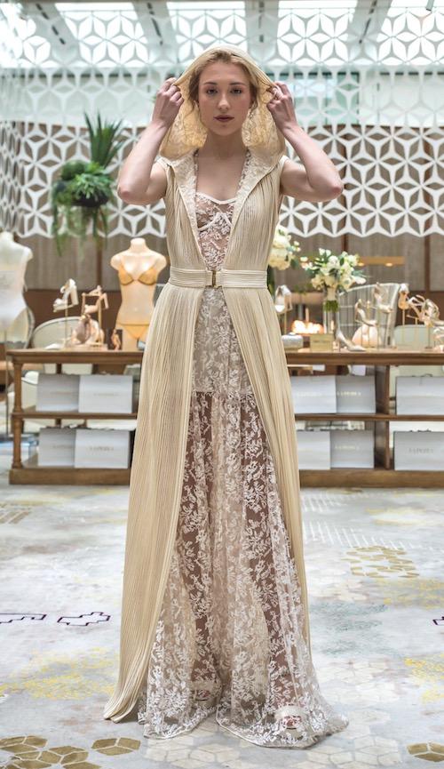 vestido novia La Perla champagne