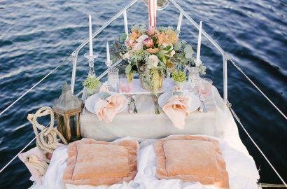 mesa presidencial boda en barco