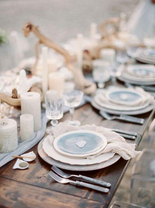 mesa para boda a bordo