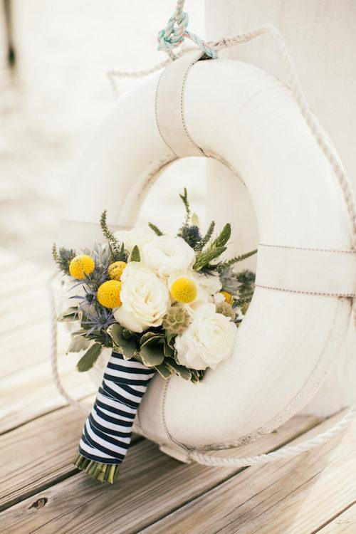 ramo novia boda en barco