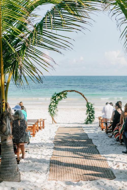 arco boda madera